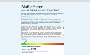 BlaBlaMeter: Welcher Wind bläst in meinen Texten?