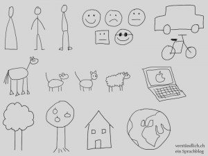 Einige einfache Illustrationen für Flipchart-Grafiken