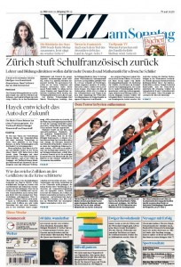 Titelseite NZZ am Sonntag vom 26. Mrz 2012