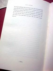 """Die letzte Seite von Paul Austers Roman """"Sunset Park"""""""