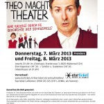 Theo macht Theater. Flyer zu Peter Wilds Bnhenprogramm.
