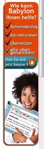 """Online-Inserat für die elektronische Rechtschreibprüfung """"Babylon"""" – Rechtschreibfehler inklusive!"""