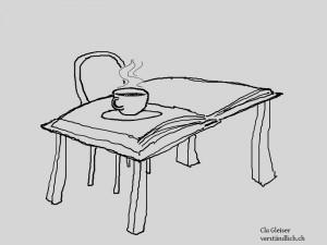 Orte, an denen man Bücher zu Ende liest (2): das Café