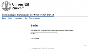 Screenshot uniterm